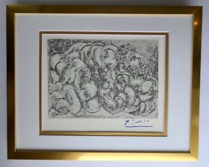 PABLO PICASSO 1955 SIGNED SUPERB PRINT MATTED 11 X 14 + LIST $895