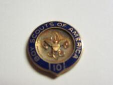 10 Year BSA Veteran Pin, Not a Service Star, 1/20 10K Gold   c18