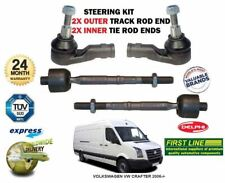 FOR VOLKSWAGEN VW CRAFTER 2006-> 2X OUTER + 2X INNER STEERING TRACK TIE ROD END