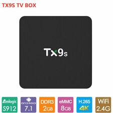TX9S Android 9.0 TV Box S912 Octa-Core 2GB+8GB WiFi & 1000M HD Media Player 4K