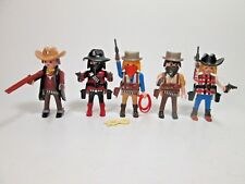Playmobil Western Sheriff Cowboy Figure Lot X5 NEW  Loose w/ Weapons Rope Hats +