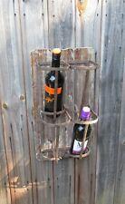 Vintage style wall hung wine bottle display rack