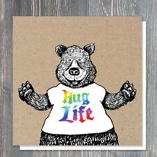 BIRTHDAY or GREETINGS card - super friendly bear in a t-shirt