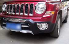 For Jeep Patriot 2011 2012 2013 2014 2015 Chrome Front Fog Light Cover Trim 2pcs