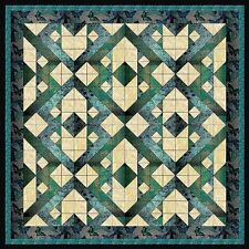 Quilt Kit/Chinese Puzzle/Precut Fabrics Ready To Sew/Kaufman Metallics/Gorgeous