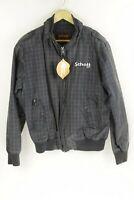 Mens SCHOTT Harrington Jacket Coat GOLFING GRID CHECK Zipper Large UP1RL