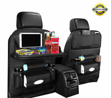 Car Back Seat Protector with Dining Table Tablet Holder Pocket Foldable Car