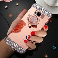 Bling Diamond Finger Ring Holder TPU Case Cover for Samsung Galaxy S7 S8 S9 Plus