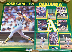 VINTAGE POSTER LOT 1987 JOSE CANSECO OAKLAND ATHLETICS 1988 A'S MCGWIRE BASEBALL