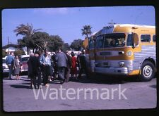 1963  Kodachrome photo slide People by Bus Mexico #2 To Ensenada