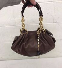 Juicy Couture Fine Brown Leather Purse w/Magnetic Clasps & Storage Bag EXCELLENT