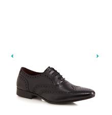 Red Herring Negro Cuero Belgravia Oxford Cuero Calado Talla 11 Hombres/Zapatos/Smart/Nuevo
