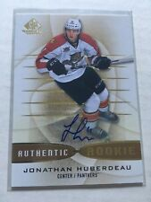2013-14 SP GAME USED JONATHAN HUBERDEAU Gold Rookie Auto #176 Florida Panthers