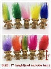 "LOT! 10pcs/set Vintage TROLLS Lucky Doll 1"" Mini Figures Kids Toys Cake Topper"
