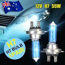 1Pair 12V 55W H7 Head Light Globes Xenon White 6000k Halogen Car Front Lamp Bulb