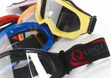 Qtech Childrens kids GOGGLES for Motocross Helmet Dirt Bike BMX Off Road