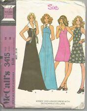Vestido De Noche 8535 Vintage patrón de costura sin cortar mccalls Semi Equipada Vestido FF