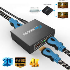 Full HD HDMI Splitter 1X2 Repeater Amplifier 3D 1080p 4K Switch Box 1 in 2 out ~