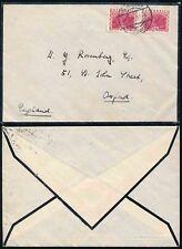 AUSTRIA 1932 LINED MOURNING ENVELOPE HUBER + LERNER MAKERS to OXFORD GB