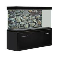 HD Rock Stone Aquarium Fish Tank Background Poster PVC Landscape Decorations UK