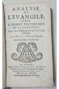 MAUDUIT Analyse de l'évangile selon l'ordre historique de la Concorde EO 1694