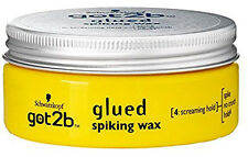 "Schwarzkopf Got 2B Glued Spiking Wax For Spike, No Crunch ""Screaming Hold"" 75ml"