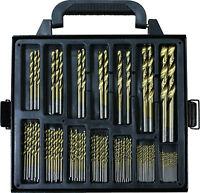 Titanium Coated HSS Drill Bit Set 99 Pc Piece and Case Plastic Wood Metal Kit