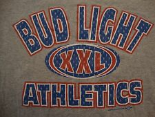 Vintage Bud Light Beer Athletics XXL Sportswear Gray Cotton T Shirt Size L