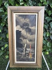 HOMER COSTELLO Original Abstract Modern MidCentury Signed Landscape Oil on Board