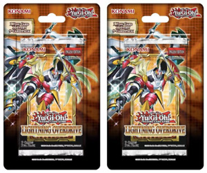 Lot of (2) Yugioh Lightning Overdrive 1st Edition Booster Packs Unweighed Sealed