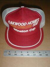 Vtg old mesh Oakwood Homes 500 Winston Cup Nascar snapback hat cap made Usa rare