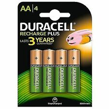 4x Duracell AA 1300mah Plus Rechargeable Batteries