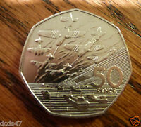 RARE OLD LARGE 50p COIN HUNT 1994 50 YEAR ANNIVERSARY OF D DAY WW2 WORLD WAR 2/