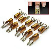 10 X Nagel Schablonen wiederverwendbar U-Form f. Acryl UV Gel Nägel Extension