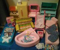 Vintage 1970's Barbie Doll DREAM HOUSE Furniture Lot