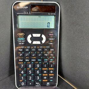 Sharp Advanced D.A.L. EL-520X DAL Scientific Handheld Calculator w/ Cover