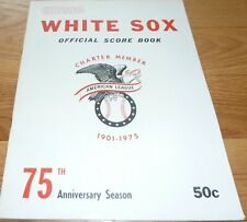 1975 CHICAGO WHITE SOX VS OAKLAND A's UNSCORED SCORECARD-PROGRAM 3