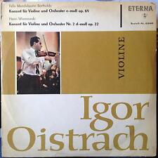 Igor Oistrach - Mendelssohn & Wieniawski Violin Concert LP Mint- 820 019 Eterna