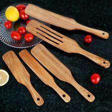 Wooden Spurtle Set 5 Wood Spurtles Kitchen Tools Cooking Utensils Nonstick
