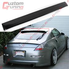 For 2003-2008 Nissan 350Z Z33 Jdm Painted Glossy Black Rear Window Roof Spoiler