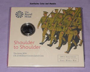 2016 ROYAL MINT WORLD WAR I SPECIMEN £2 COIN - The Army - MINT SEALED PACK