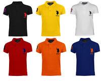 Kids Boys US Polo Assn USPA Children PE School Cotton Polo T Shirt Top Age 4-12