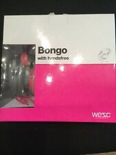 WESC Bongo Seasonal On Ear Headphones Magenta Pink iPhone Brand New In Box