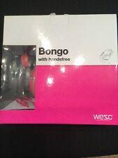 WESC Bongo Seasonal On Ear Headphones Magenta Pink iPhone Brand New In Box