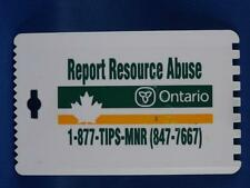 ONTARIO MINISTRY OF NATURAL RESOURCES TIP LINE ICE SCRAPER KEY CHAIN KEY RING
