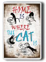 Novelty Gift FRIDGE MAGNET! CAT LOVER GIFT, FRENCH CAT, CAT PRESENT,Large size