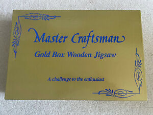 VINTAGE GOLD BOX WOODEN JIGSAW PUZZLE 800 PIECES MASTER CRAFTSMAN THE COUNTRY