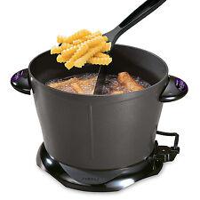 Unique Dual Daddy Deep Fryer Temperature Non-Stick Fry Pot 8 Cups Fryers Kitchen