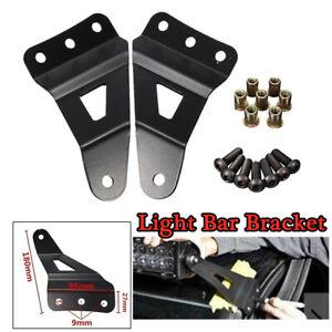 2PCS+Kits Roof Mounting Brackets LED Light Strip Bracket Steel Windshield Refit