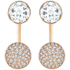 Swarovski Forward Yellow Gold Plated Pierced Earring Jackets - Clear Crystals